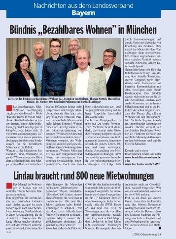 01/2013 - Deutscher Mieterbund Landesverband Bayern e.V.