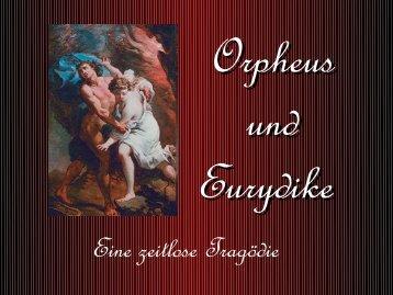 Orpheus und Eurydike - Archiv