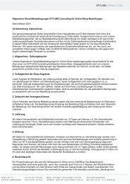 Allgemeine Geschäftsbedingungen ETTLING Consulting für Online ...