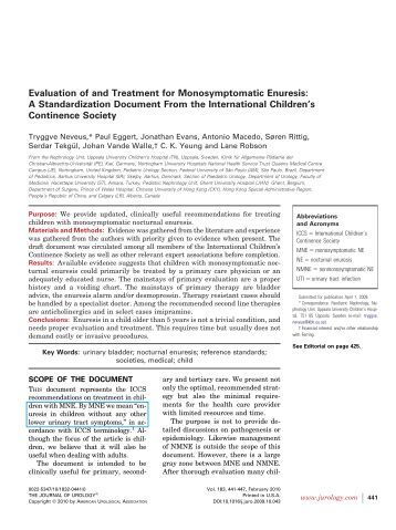 refractory monosymptomatic nocturnal enuresis treatment Tolterodine and imipramine in refractory enuresis a placebo-controlled crossover study  line treatment of refractory enuresis  for monosymptomatic nocturnal .