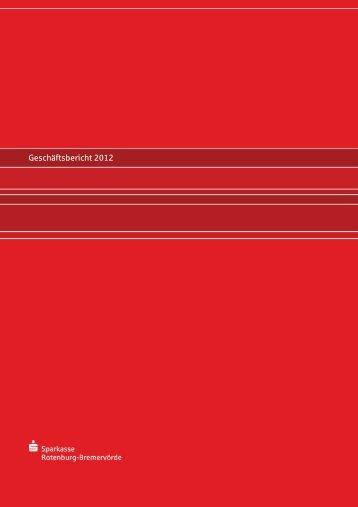 Geschäftsbericht 2012 - Sparkasse Rotenburg-Bremervörde