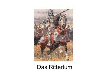 D Ritt t as Rittertum - Germanistik