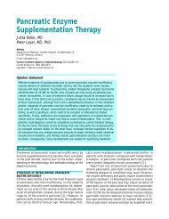 Pancreatic Enzyme Supplementation Therapy