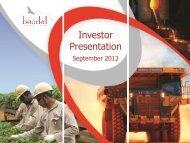 Investor Presentation - September 2013 - Beadell Resources