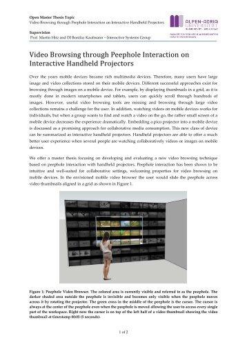 Video Browsing through Peephole Interaction on Interactive ...