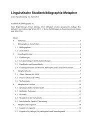 Linguistische Studienbibliographie Metapher - wwwuser - GWDG