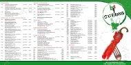 aktuelle Preisliste - BTF Catering Ltd.