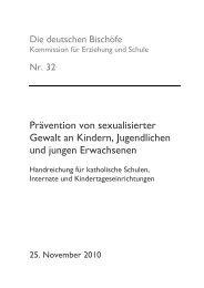 Prävention von sexualisierter Gewalt an Kindern, Jugendlichen und ...