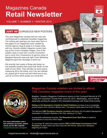Retail Newsletter - Magazines Canada