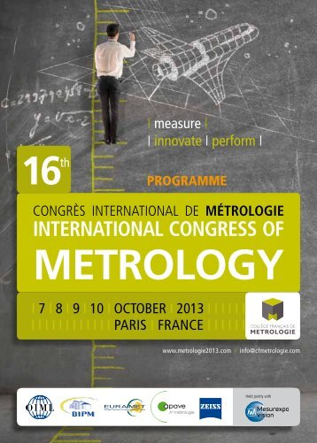 METROLOGY - Congrès de métrologie 2013
