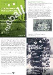 Flyer zur Ausstellung - Stadtmuseum Stuttgart