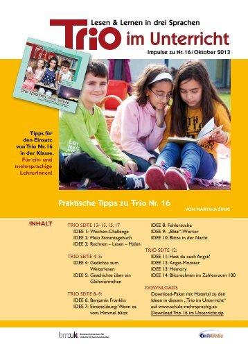 Trio 16 im Unterricht - Schule mehrsprachig