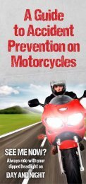 A Guide to Accident Prevention on Motorcycles - Jersey Safe Roads