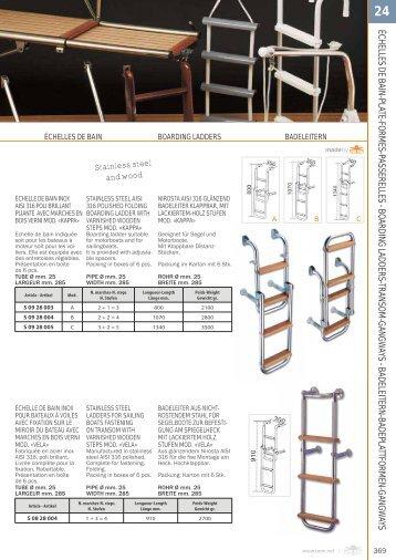 échelles de bain-plate-formes-passerelles ... - Tehno Nautika