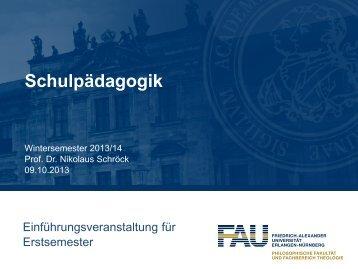 Modulteilprüfung - Lehrstuhl für Schulpädagogik