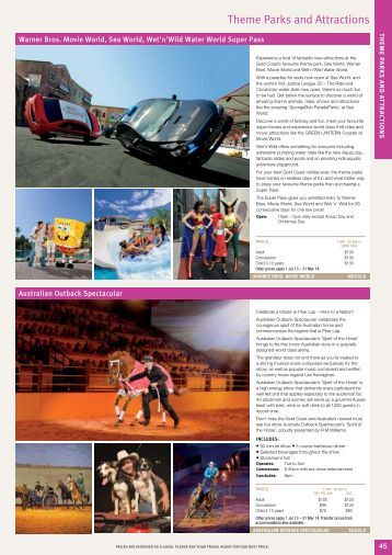 Theme Parks and Attractions - Sunlover Holidays