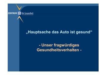 Hauptsache das Auto ist gesund - Medigroup.gothaer.de