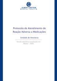 Protocolo de Atendimento de Reação Adversa a Medicações