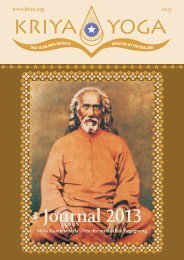 Journal 2013 Journal 2013 - Kriya Yoga Institute
