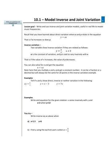 Direct, Inverse & Joint Variation Section 2.5. Direct Variation 2 ...