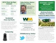 Fall Newsletter - Waste Management