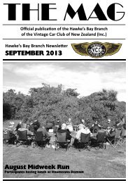 SEPTEMBER 2013 - Hawke's Bay Vintage Car Club