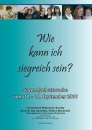 Jugendgebetswoche vom 10. - 18. September 2010 - Reformierte ...