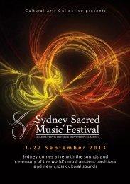 1-22 September 2013 - Sydney Sacred Music Festival