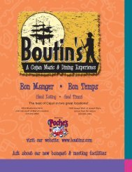 Restaurant Menu Items and Pricing - Boutin's
