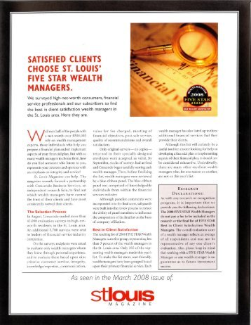 2008 - Private Wealth Management