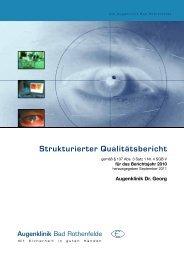 Qualitätsbericht 2010 - Augenklinik Bad Rothenfelde