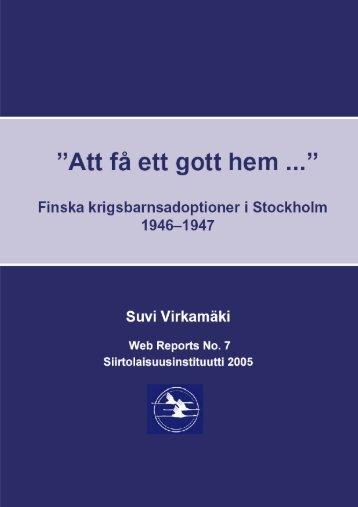 """Suvi Virkamäki """"Att få ett gott hem…"""""""