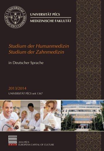 Studium der Humanmedizin Studium der ... - Universität Pécs