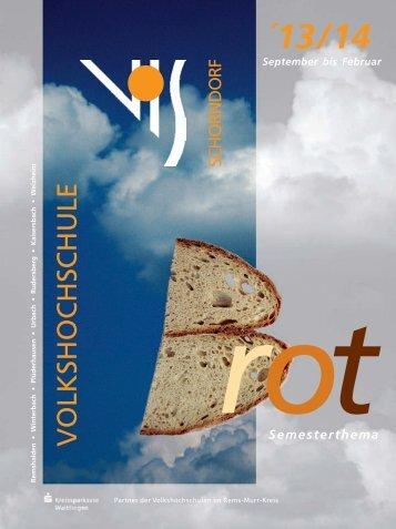 Programm - Volkshochschule Schorndorf