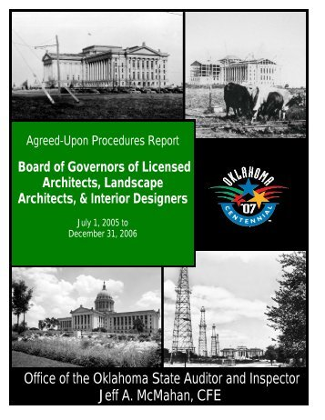Board of Governors of Architects Agreed Upon Procedures