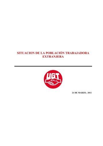 situacion de la población trabajadora extranjera - TCM-UGT