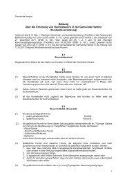 Satzung über die Erhebung von Hundesteuern in der ... - Harztor
