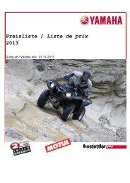Preisliste / Liste de prix 2013 - hostettler motoren ag
