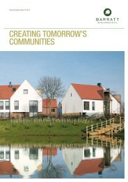 CREATING TOMORROW'S COMMUNITIES - Barratt Developments ...
