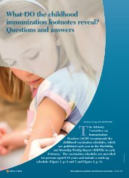 What DO the childhood immunization footnotes reveal ... - CECity