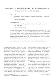 Typifications of the names of some Latin American species ... - BioOne
