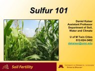 Sulfur 101 - Minnesota Agricultural Water Resource Center