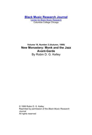 19.2 New Monastery.pdf - Jazz Studies Online