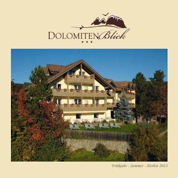 Unser Prospekt für Sie zum Herunterladen - Hotel Dolomitenblick