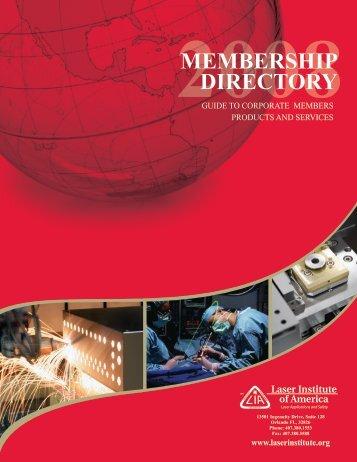 MEMBERSHIP DIRECTORY - Laser Institute of America