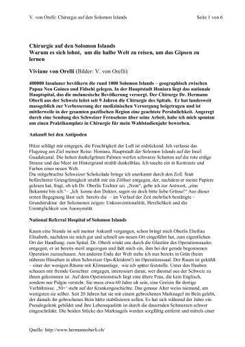 pdf Datei - Medizin im Südpazifik