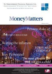 MoneyMatters Winter 2013 - St. Edmundsbury Financial Services Ltd.