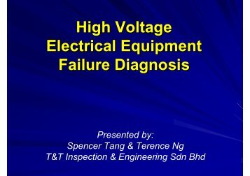 High Voltage Electrical Equipment Failure Diagnosis - UE Systems