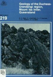 Geology of the Duchess-Urandangi region,Mount Isa Inlier ...