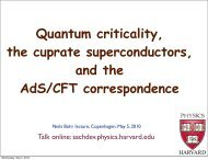 Introduction to quantum criticality